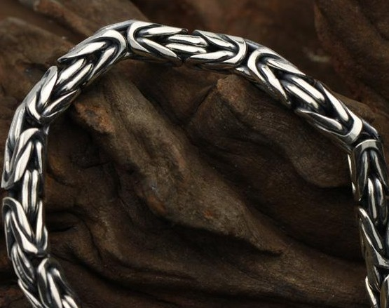 silver dragon bracelet for men