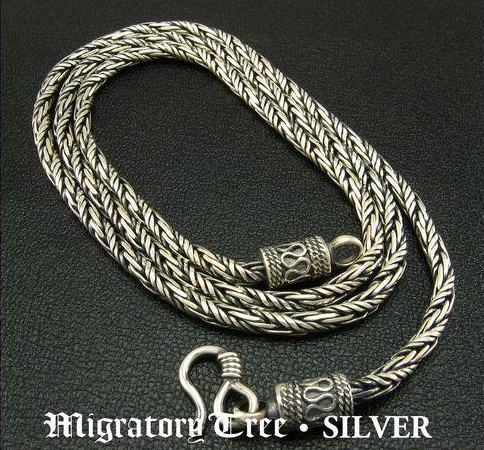 Tibetan handmade sterling silver necklace for men mozeypictures Images