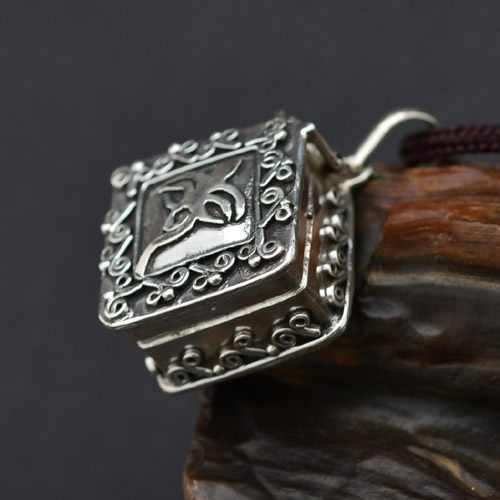 The tibetan buddha wisdom eye gau pendant buddhist prayer box ghau gau box aloadofball Image collections