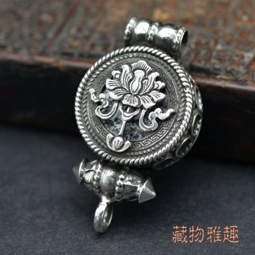 Tibetan buddhist lotus prayer box pendant handmade gau pendant buddhist lotus flower prayer box pendant sold out aloadofball Image collections