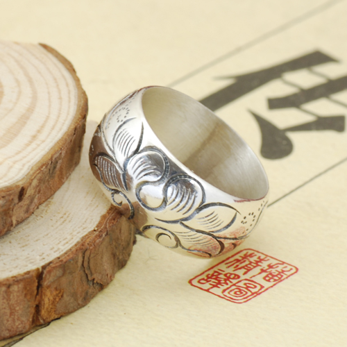 tibetan lotus flower ring