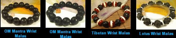 prayer beads malas, tibetan wrist malas