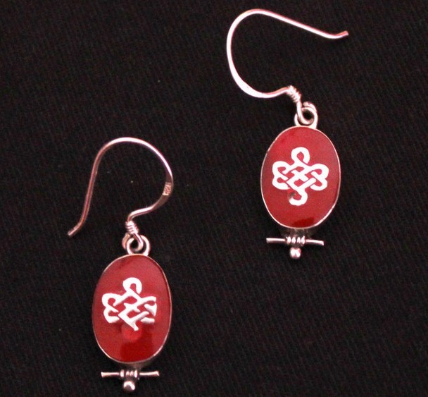 tibetan endless knot earrings