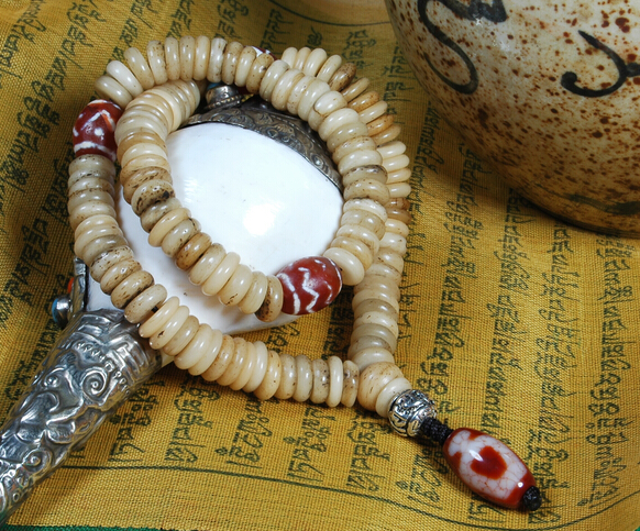 old yak bone 108 beads mala