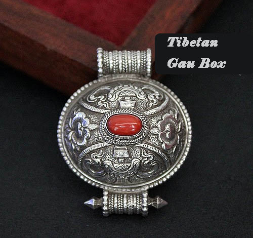 Buddhist sacred symbols prayer box pendant handmade tibetan buddhist the size of the pendant is 44mm35mm17mm the inner size is 29mm25mm10mm weight 173g aloadofball Image collections