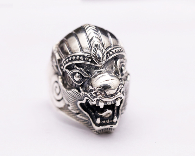 silver dragon ring
